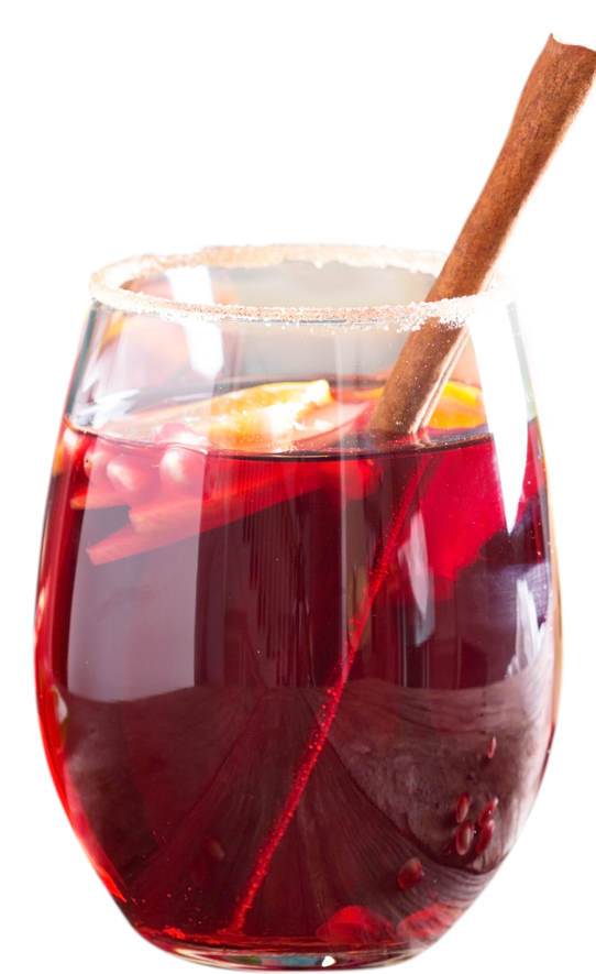 Ginger Red Hot Winter Sangria drink