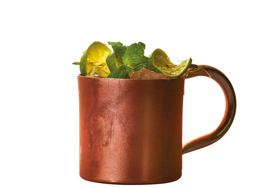 Raw Moscow Mule drink