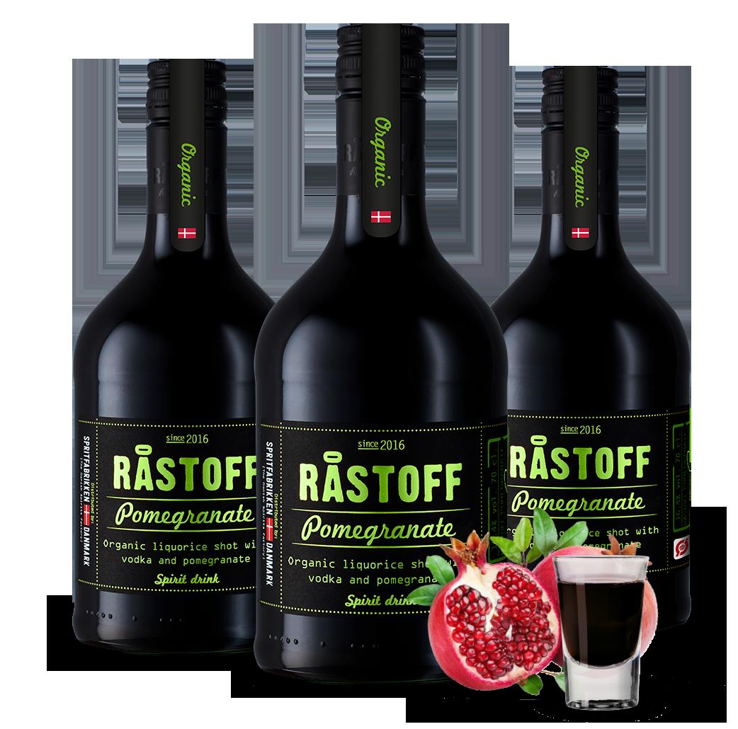 Økologisk nyhed RÅSTOFF Pomegranate Liquorice shot