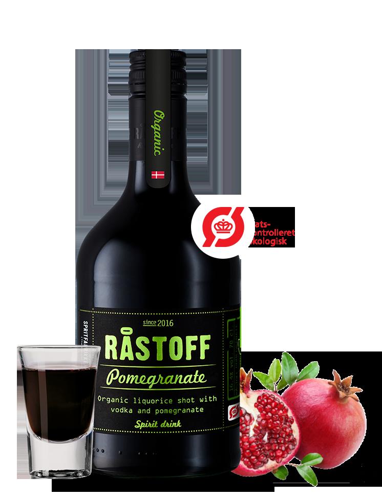 Økologisk Råstoff Pomegranate lakridsshot